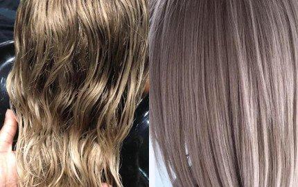 Farhana's Before and After Kerastase blonde absolu