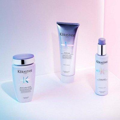 Kerastase Blonde Absolu Ultra violet purple shampoo, Cicaflash conditioner, Cicaplasme hair primer