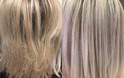 Angelique's Before and After Kerastase blonde absolu
