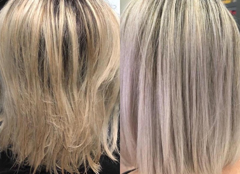 Angelique's Before and After Kerastase blonde absolu