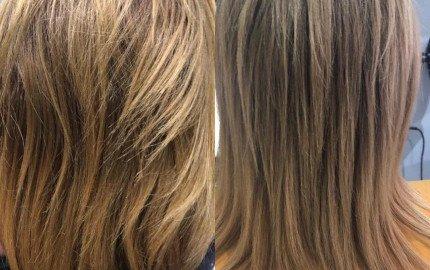 Imelda's Before and After Kerastase Blonde Absolu