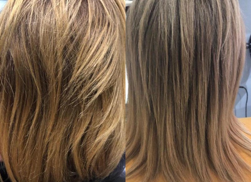 Imelda's Before and After Kerastase Blonde Absolu