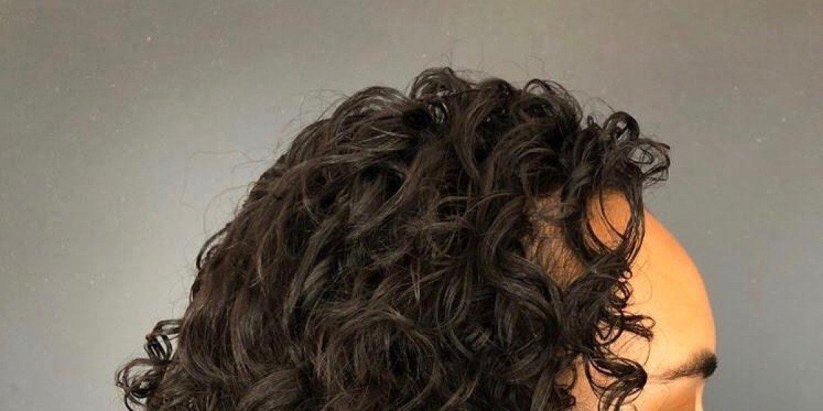 Curly hair with Olaplex Treatment