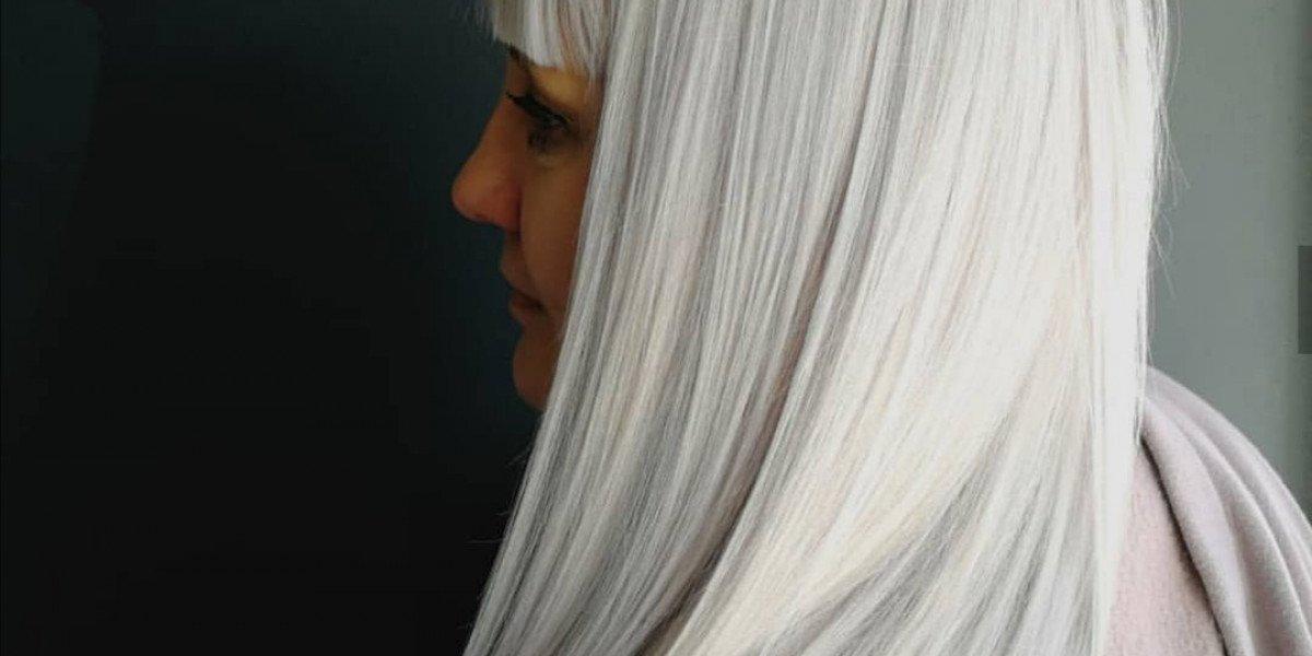 Evolution Keratin Treatment on Silver Hair