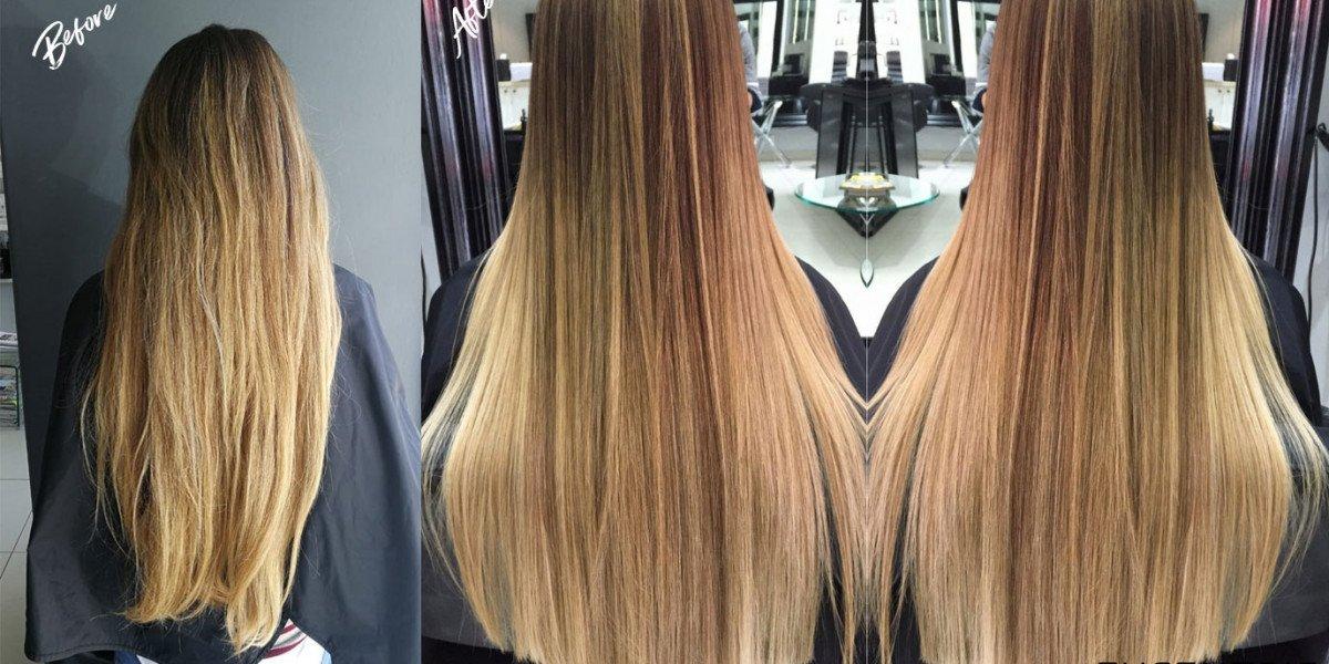 Evolution Keratin Smoothing Treatment on Long hair with Balayage